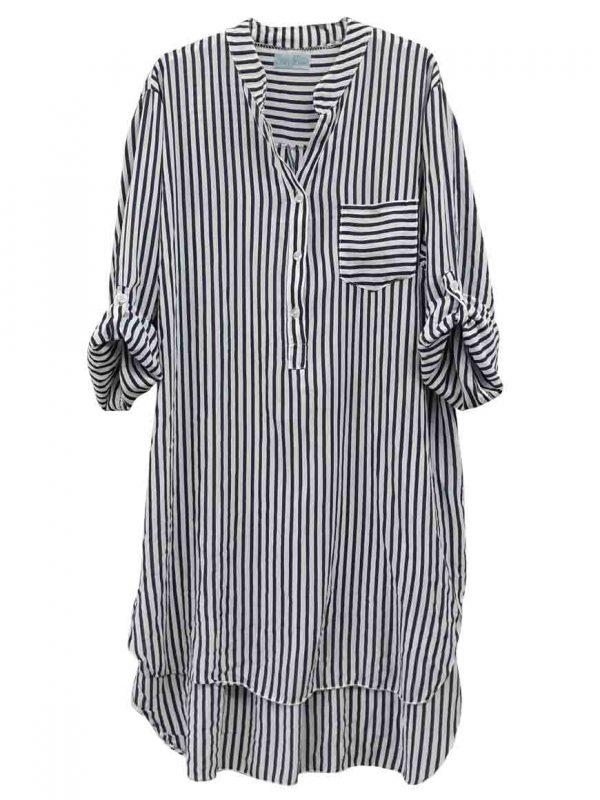 stripe shirt-dress